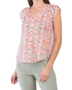 Rose Blossom Print Elodia Top