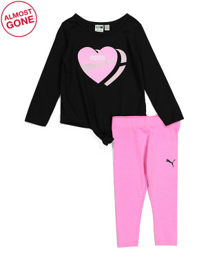 Toddler Girls 2pc Long Sleeve Legging Set
