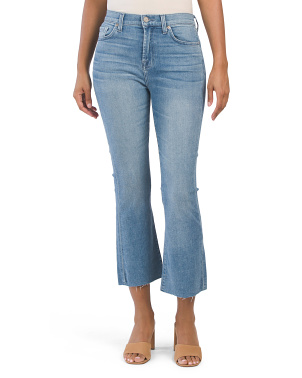 High Waist Slim Kick Leg Jeans
