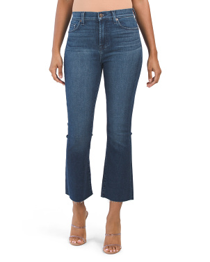 High Waist Slim Kick Jeans