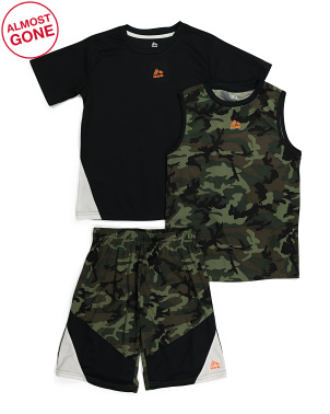 Little Boys 3pc Short Set