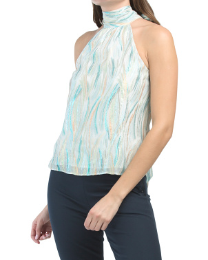 Multi Lurex Lori Silk Blend Top