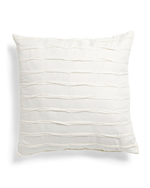 Made In Usa 22x22 Pleated Linen Look Pillow