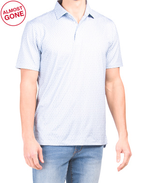 Driver Diamond Print Performance Polo