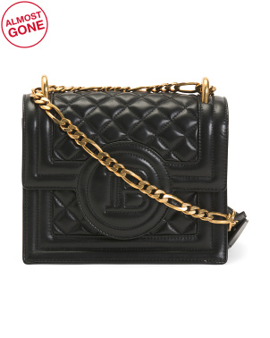 Made In Italy Quilted Leather Chain Bag