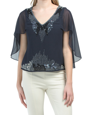Beaded Cape Top