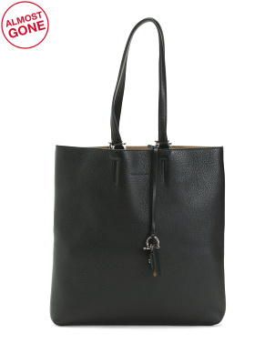 Made In Italy Leather Minimal Tote