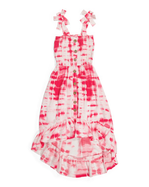 Big Girls Tie Shoulder Ruffle Maxi Dress