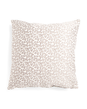 Made In Usa 22x22 Nikki Jacquard Animal Pillow