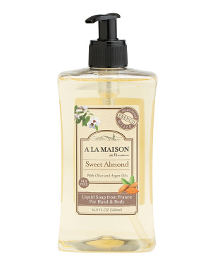 Made In France 16.9oz Sweet Almond Liquid Soap