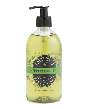 Made In France 16.9oz Premium Peppermint Leaf Liquid Soap