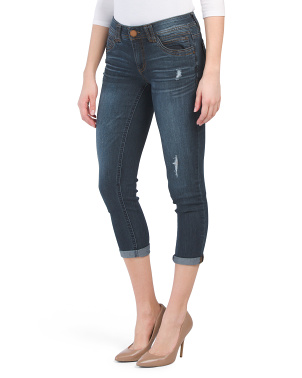 Ab Tech Slightly Distressed Denim Jeans