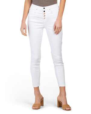 Stacked Button High Waist Jeans