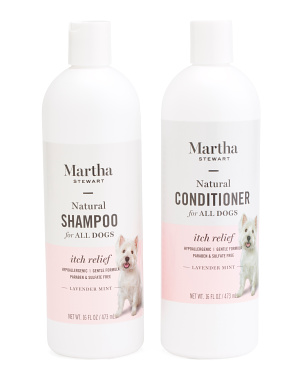 16oz Itch Relief Dog Shampoo & Conditioner Set