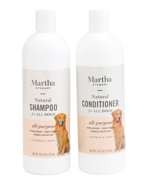 16oz Oatmeal Dog Shampoo & Conditioner Set