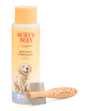 16oz Puppy Tearless Shampoo & Double Sided Puppy Comb