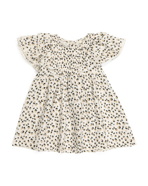 Toddler Girls Flutter Sleeve Dress