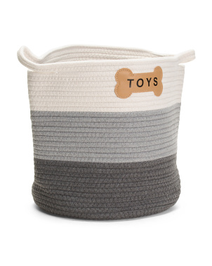 Cotton Rope Naples Toy Basket