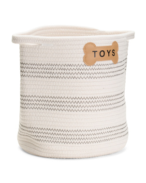 Cotton Rope Florence Toy Basket