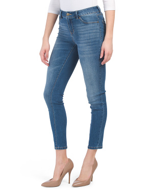 High Waist Stone Wash Skinny Jeans