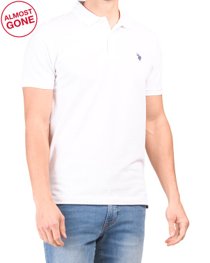 Slim Fit Solid Pique Polo Shirt
