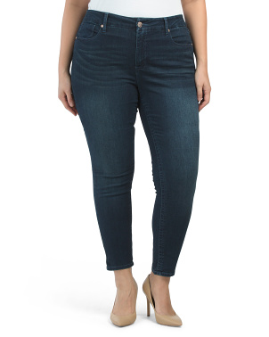 Plus High Rise Tummyless Skinny Jeans