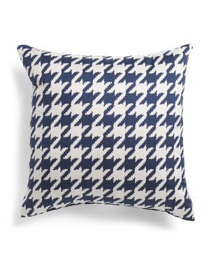 Made In Usa 22x22 Houndstooth Pillow