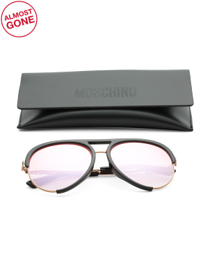 58mm Designer Aviator Sunglasses
