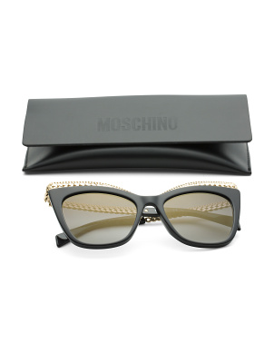52mm Designer Sunglasses With Accent