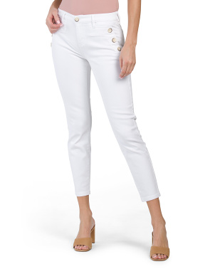 Abby Skinny Sailor Jeans With Button Details