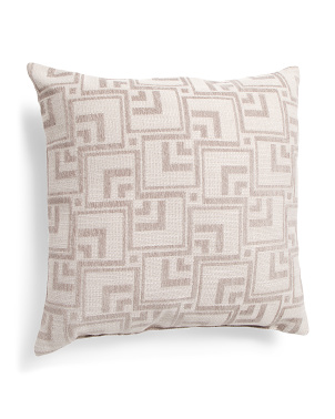 Made In Usa 22x22 Textured Geo Pattern Pillow