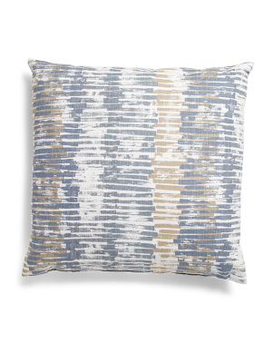 Made In Usa 22x22 Palisade Linen Look Print Pillow