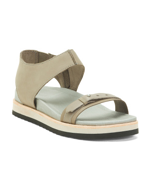 Leather Comfort Flat Sandals