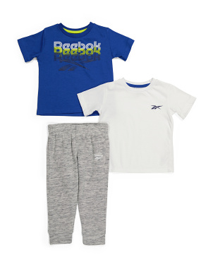 Toddler Boy 3pc Joggers And Tees Set