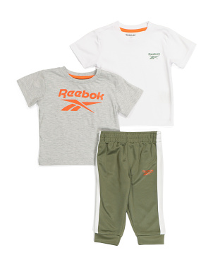 Infant Boy 3pc Jogger And Tees Set