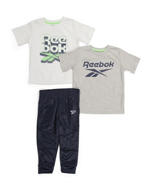 Toddler Boy 3pc Jogger And Tees Set