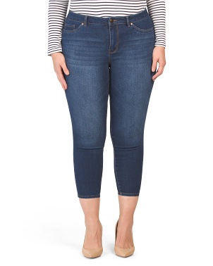 Plus Recycled Basic Denim Ankle Jeans