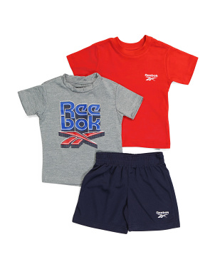 Infant Boy 3pc Lounge Short Set
