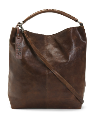 Made In Italy Oversized Leather Hobo