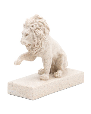 Lion Figurine On Base