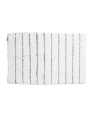 20x32 Striped Cotton Bath Mat