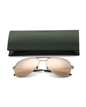 59mm Designer Aviator Sunglasses