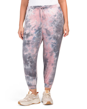 Plus Made In Usa French Terry Tie Dye Joggers