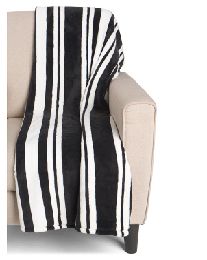 Ardsley Stripe Printed Loft Fleece Throw