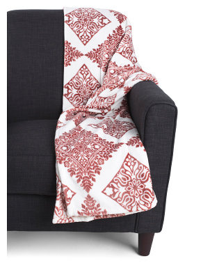 Boho Medallion Plush Throw