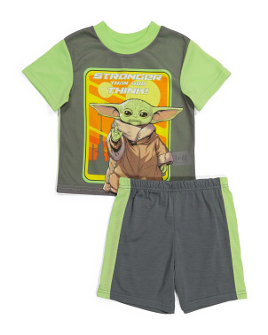 Boys Baby Yoda Sleep Set