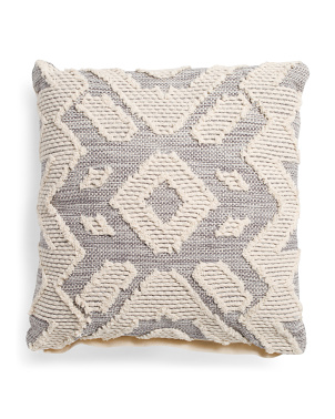 20x20 Textured Front Pillow