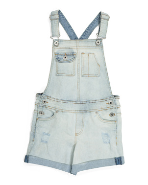 Big Girls Denim Shortalls