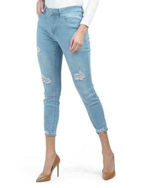 Hide Your Muffin Top Destructed Tummy Control Jeans