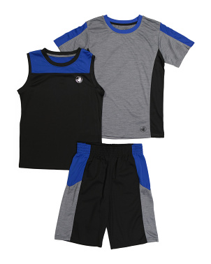 Big Boys 3pc Active Short Set